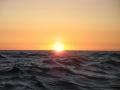 Erster Sonnenuntergang ohne Wolken